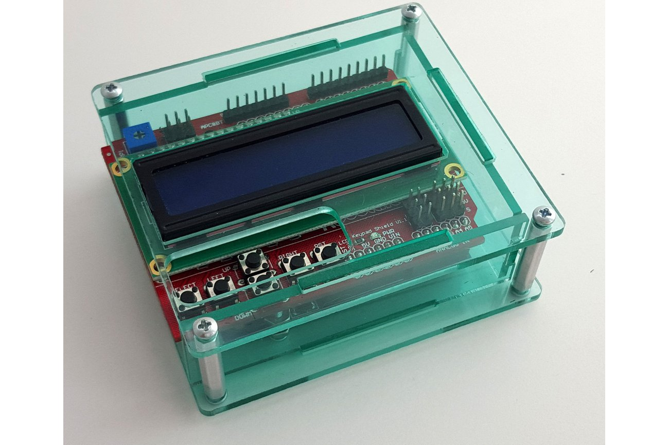 Acrylic enclosure for arduino uno and lcd from marty