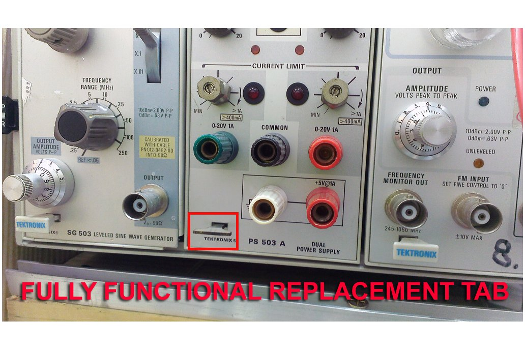 Substitute Pull tabs for Tektronix TM500 plugins 8