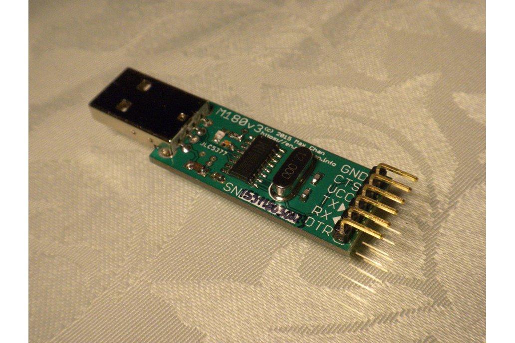 Fused FTDI-free USB to UART adapter (5V, M180v3) 1