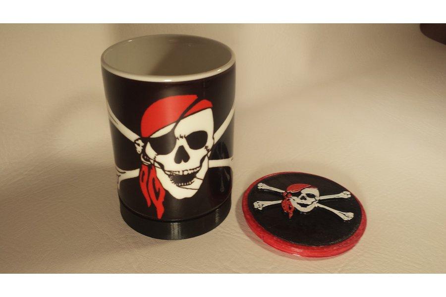 Cup/Mug - 12oz with 3D printed cap