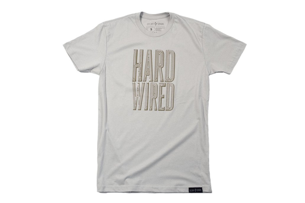 HARD WIRED - Mens Fashion Fitted Graphic T-shirt 2