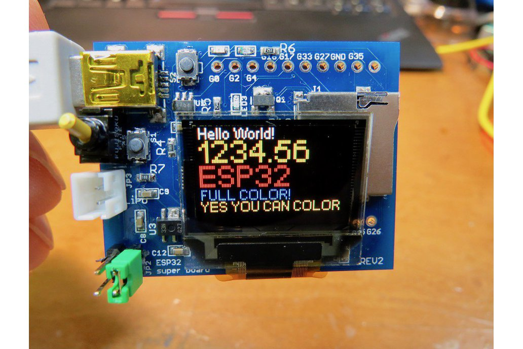 ESP32 dev board /w Full Color OLED REV.3 4