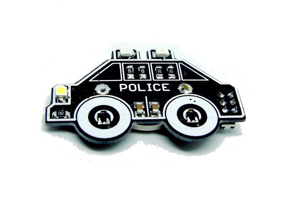 Police car - LED learn to solder kit 2