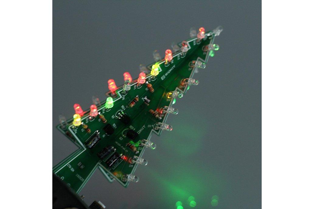 DIY 3D Xmas Tree 7 Color Flash LED Kits(7213) 3