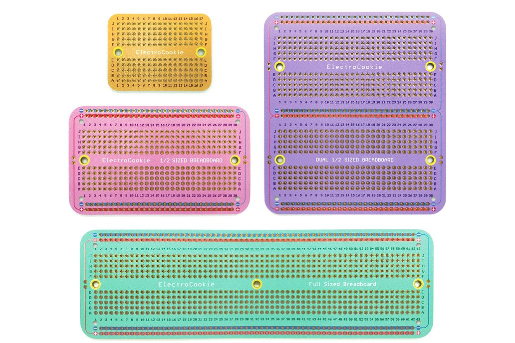 Solderable Breadboard PCB (Macaron Color, 4 pack) 1