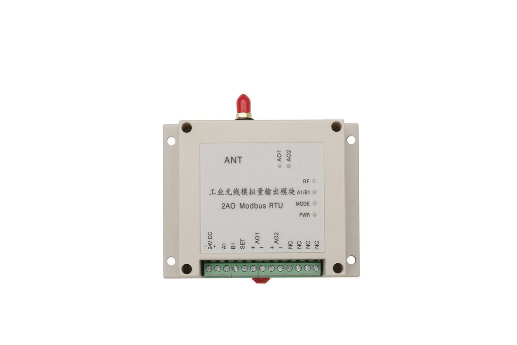 wireless analog I/O module 2AO modbus RTU 4-20mA 1