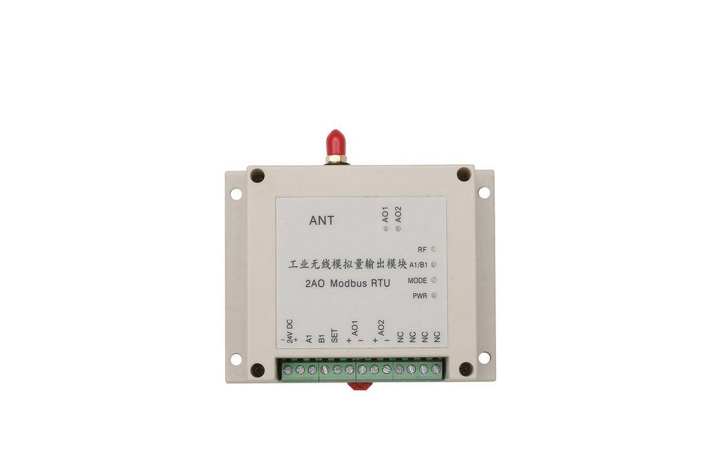 wireless analog I/O module 2AO modbus RTU 4-20mA 1