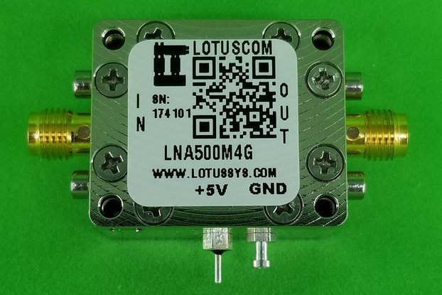 Amplifier LNA 1.3dB NF 500MHz to 4GHz