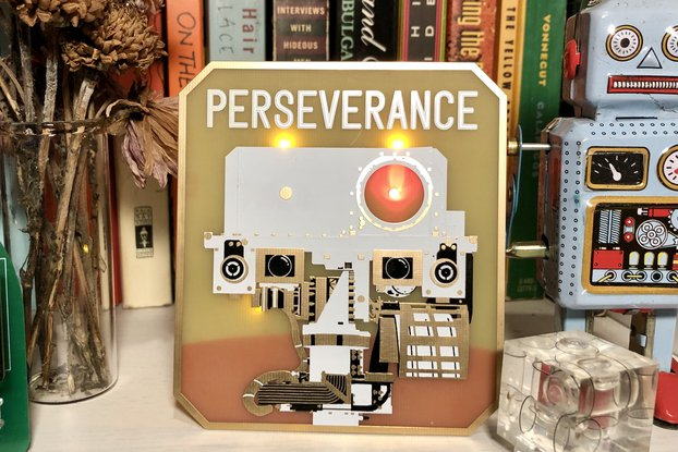 Mars Perseverance Rover Badge (assembled)