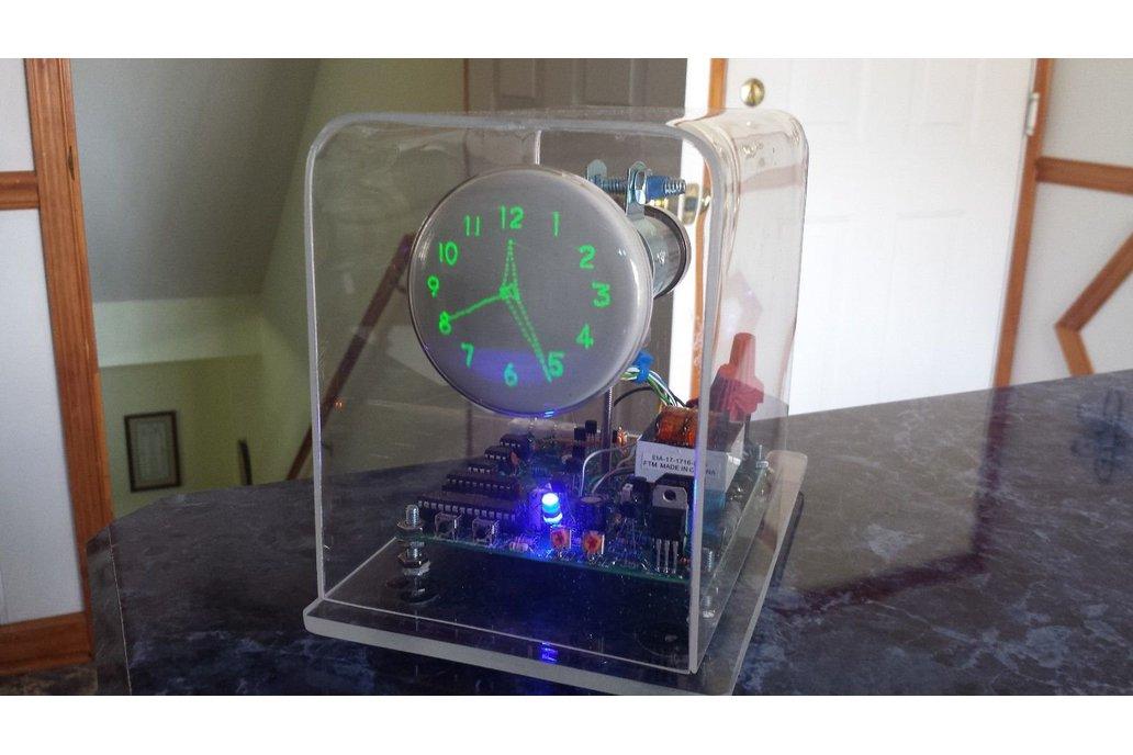 "Mini Oscilloscope Clock DG7-6 Cathode Ray Tube 3"" 1"