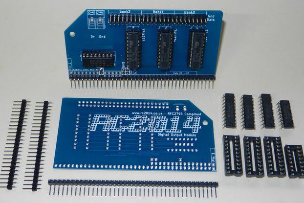 Digital Output Module For RC2014 Z80 Computer