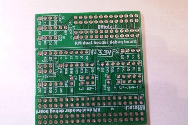 RPi dual-header debug board