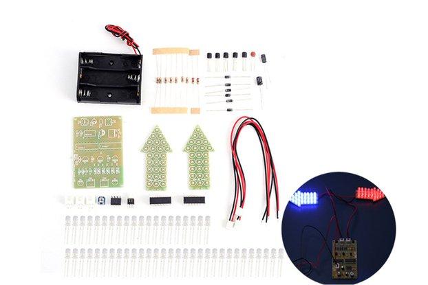 DIY Kit Red Blue Analog Traffic Signal Indicator