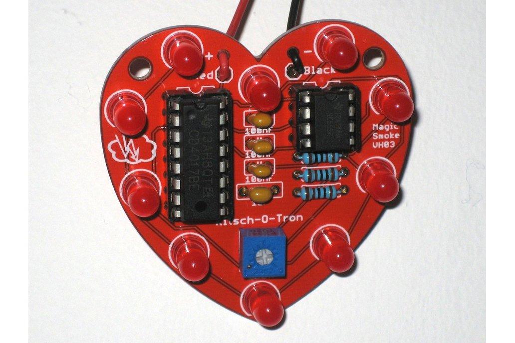 Heart-Shaped LED Chaser (Bare PCB) 3