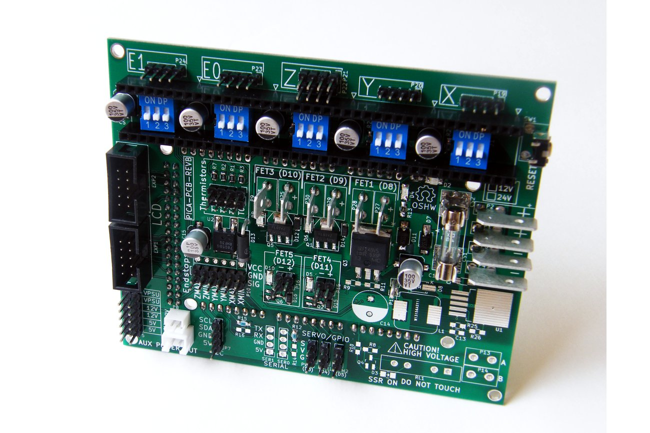 Pica reprap arduino mega shield from marty rice on tindie