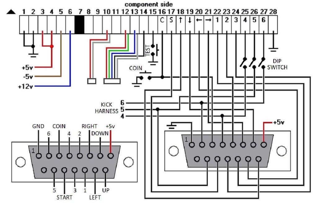 Jamma 6 Button Wiring Diagram - Wiring Diagrams Dock