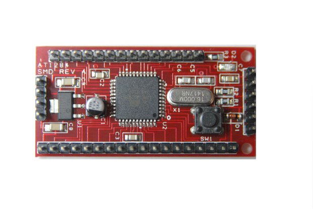 Mini Surface mount ATmega1284P-AU Breakout Low amp