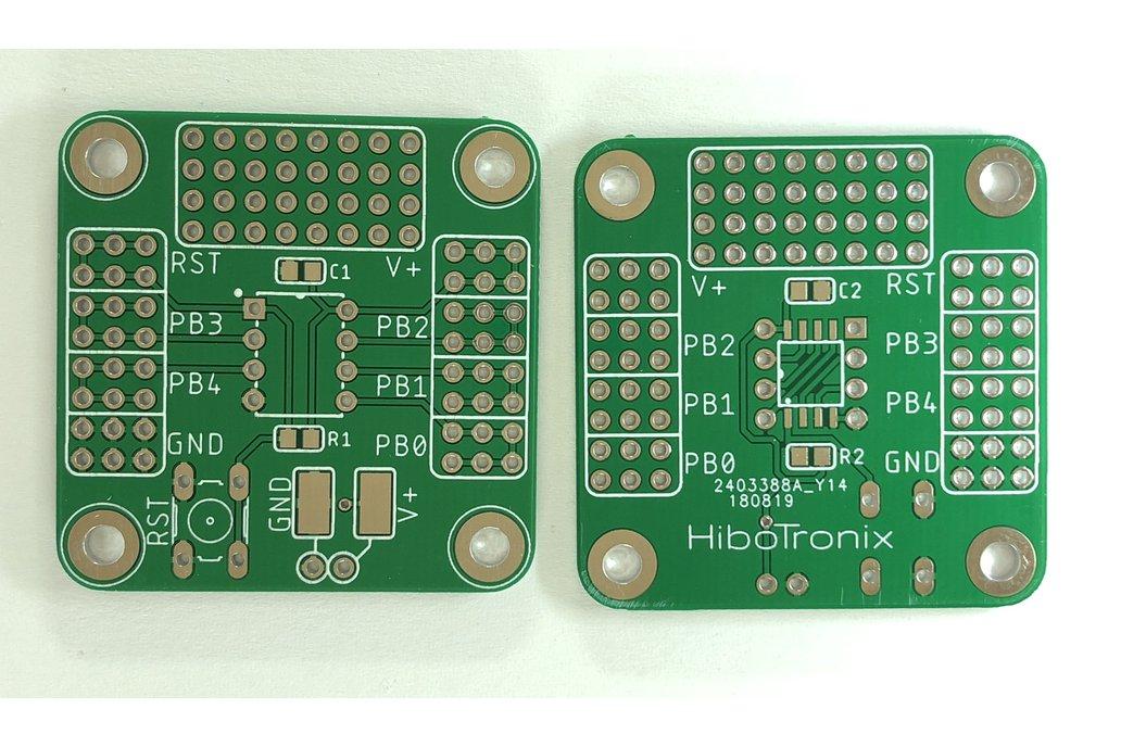 ATTiny 25/45/85 ProtoBoard (THT/SMD) V2 1