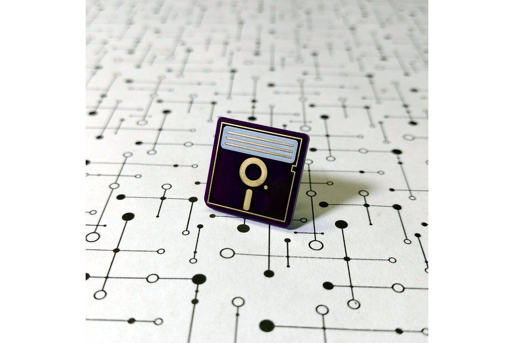 "5.25"" Floppy Disk PCB Lapel Pin 1"