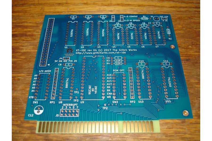 XT-IDE rev 4 Bare PC Board 8 Bit ISA GW-XTIDE-4