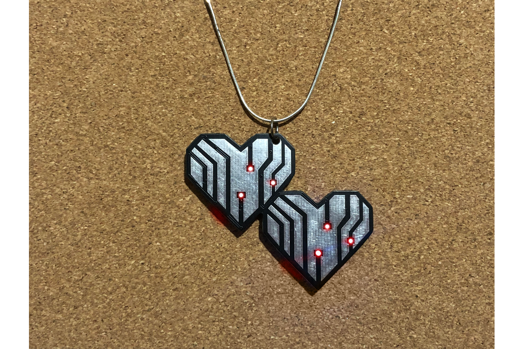 Hearts LED pendant 1
