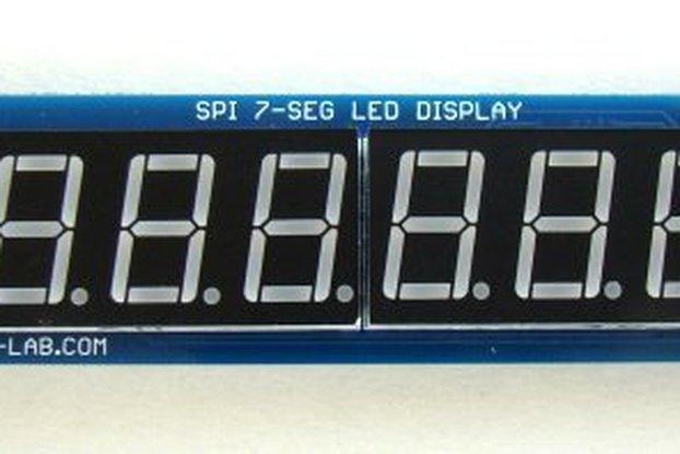 Serial 8-digit 7-segment LED display (Yellow)
