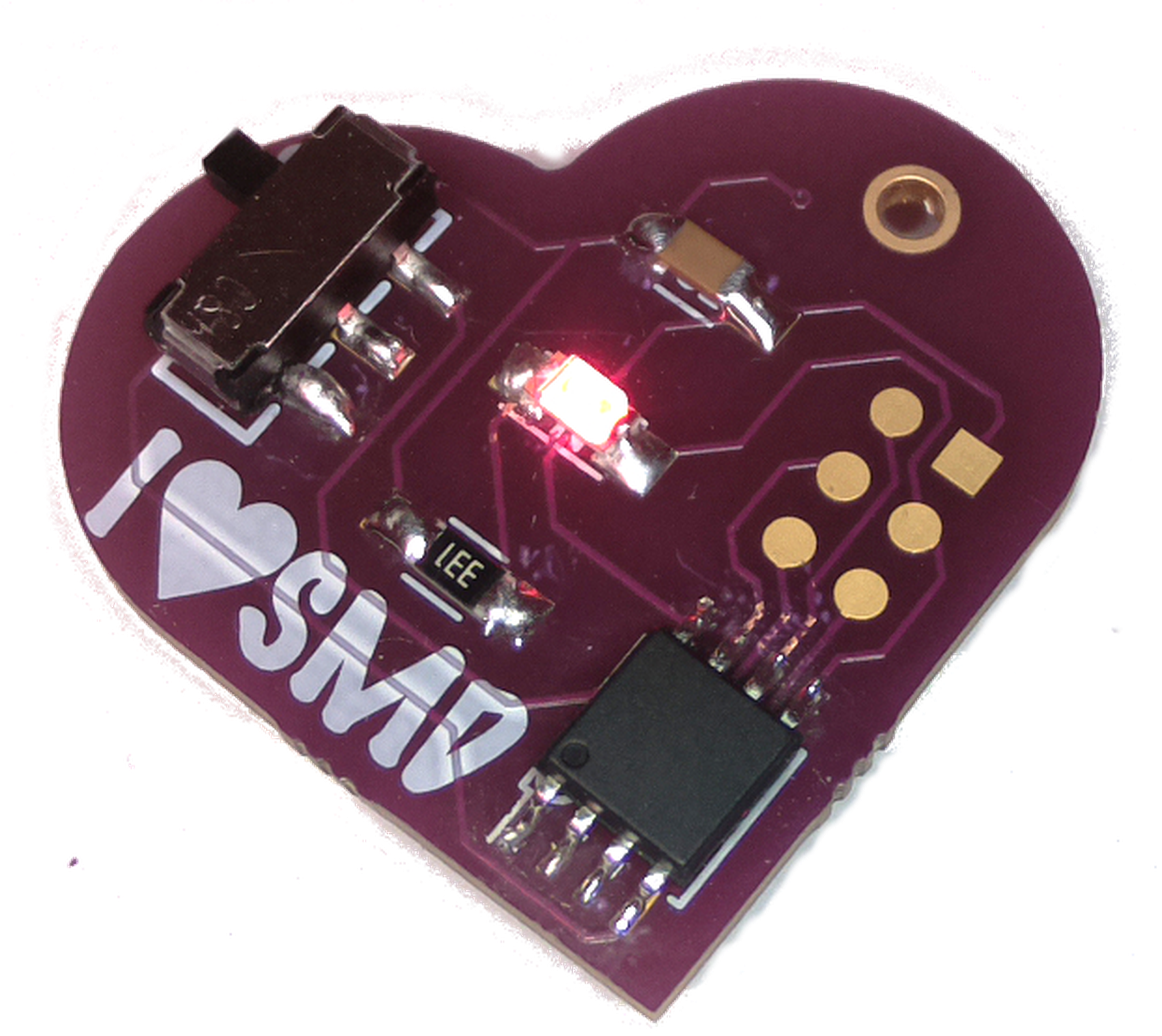 Smd Challenge From Makersbox On Tindie Build A Blinky Smt Kit Wayne And Layne Sale I Can Surface Mount Solder