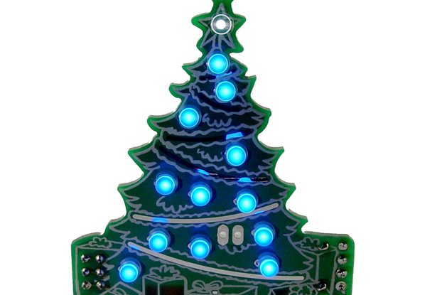 DIY Xmas desktop Tree 13 LED- KIT
