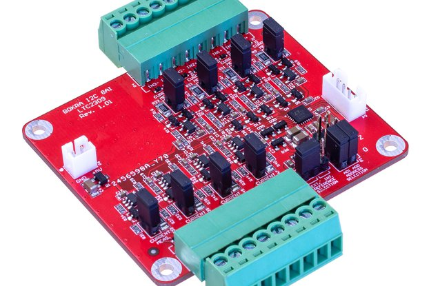 I2C 8-channel analog input module