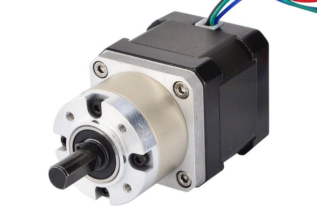 Nema 17 Stepper Motor 38mm Length w/ 5:1 Gearbox