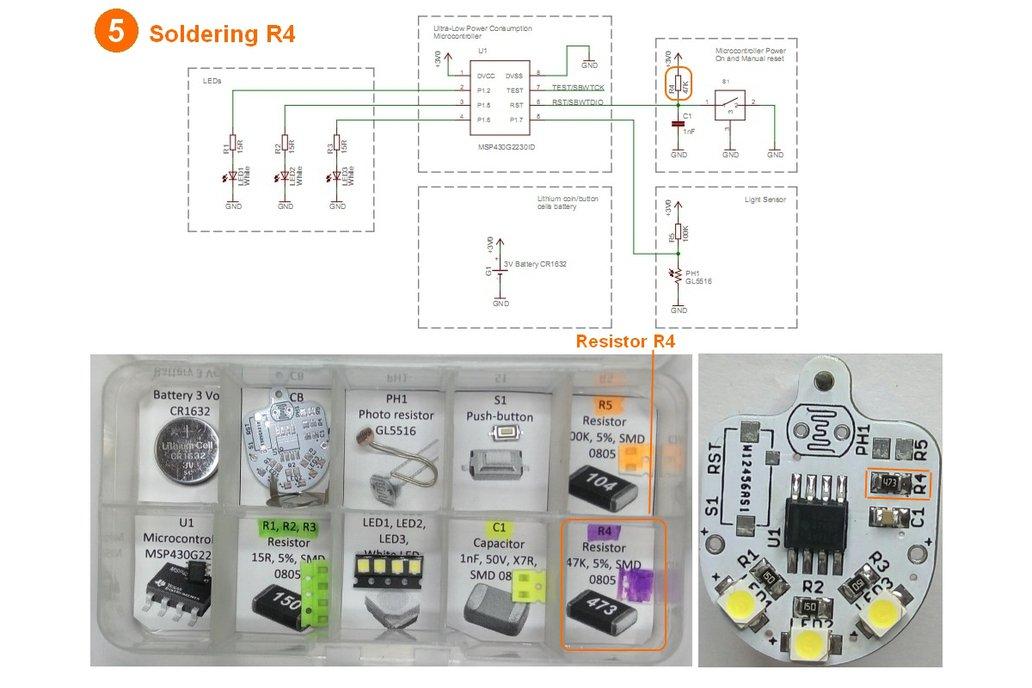 Light sensing smart LED flashlight KIT 10