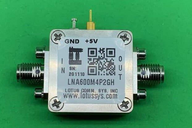 Amplifier LNA 0.67dB NF 600MHz to 4.2GHz