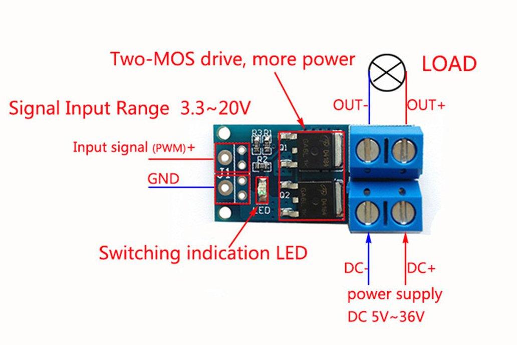 MOS Tube Transistor PWM Regulator Switch(10536) 6