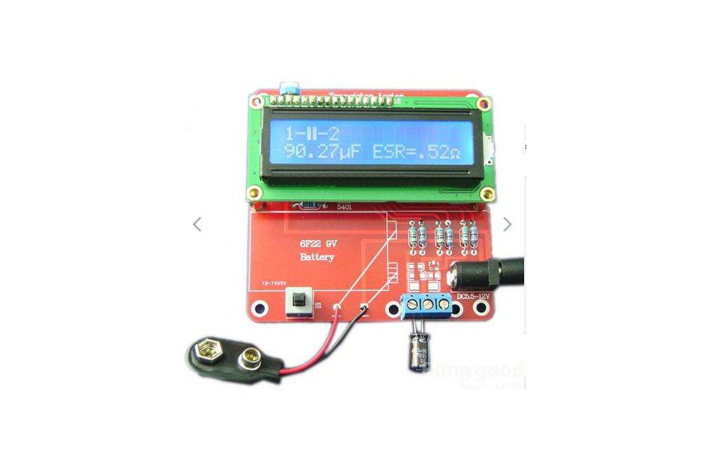 DIY Meter Tester Kit For Capacitance ESR Inductance Resistor NPN PNP Mosfet M168 3