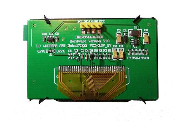 "2.42"" Monochrome OLED I2C display"
