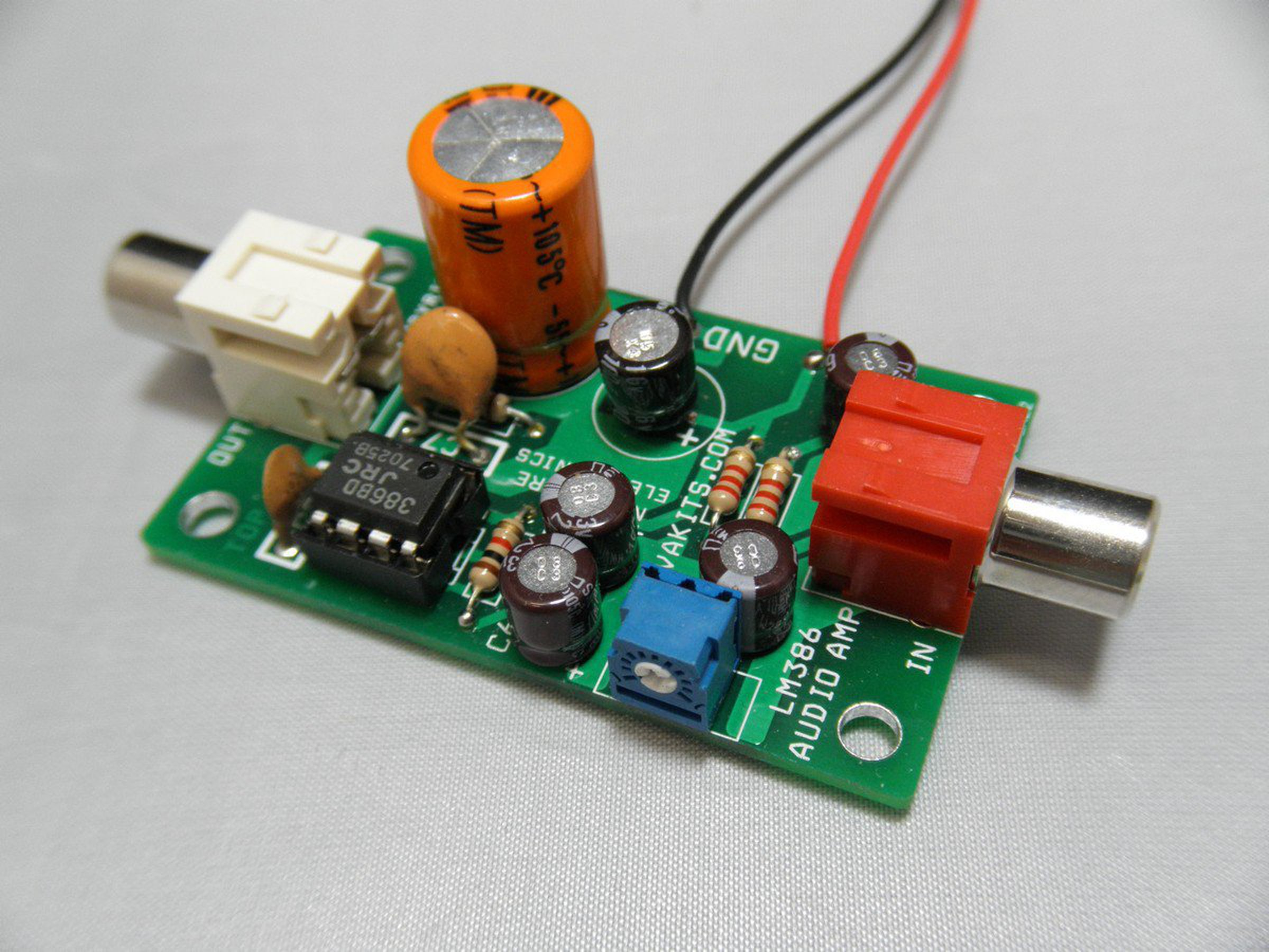 Electret Microphone Amplifier Kit 1695 Em From Nightfire Lm386 Audio Circuit With Pcb 1