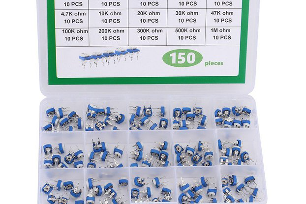 150pcs 10 Values Adjustable Potentiometer_GY18610