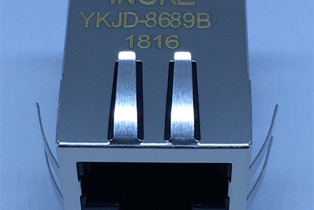 7499011222A Single Port Magnetic Modular RJ45 Jack