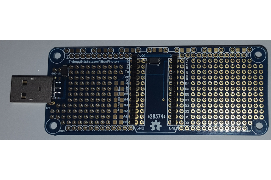 Prototype PCB for Particle Photon (Wide) 3