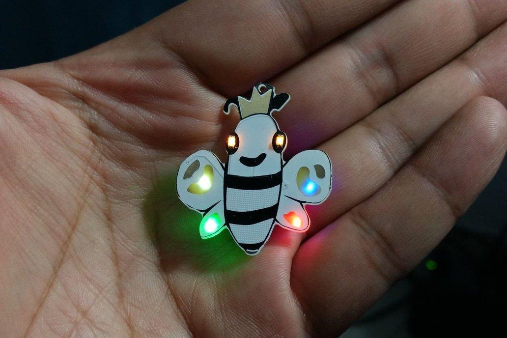 Queen Bee pin badge 1