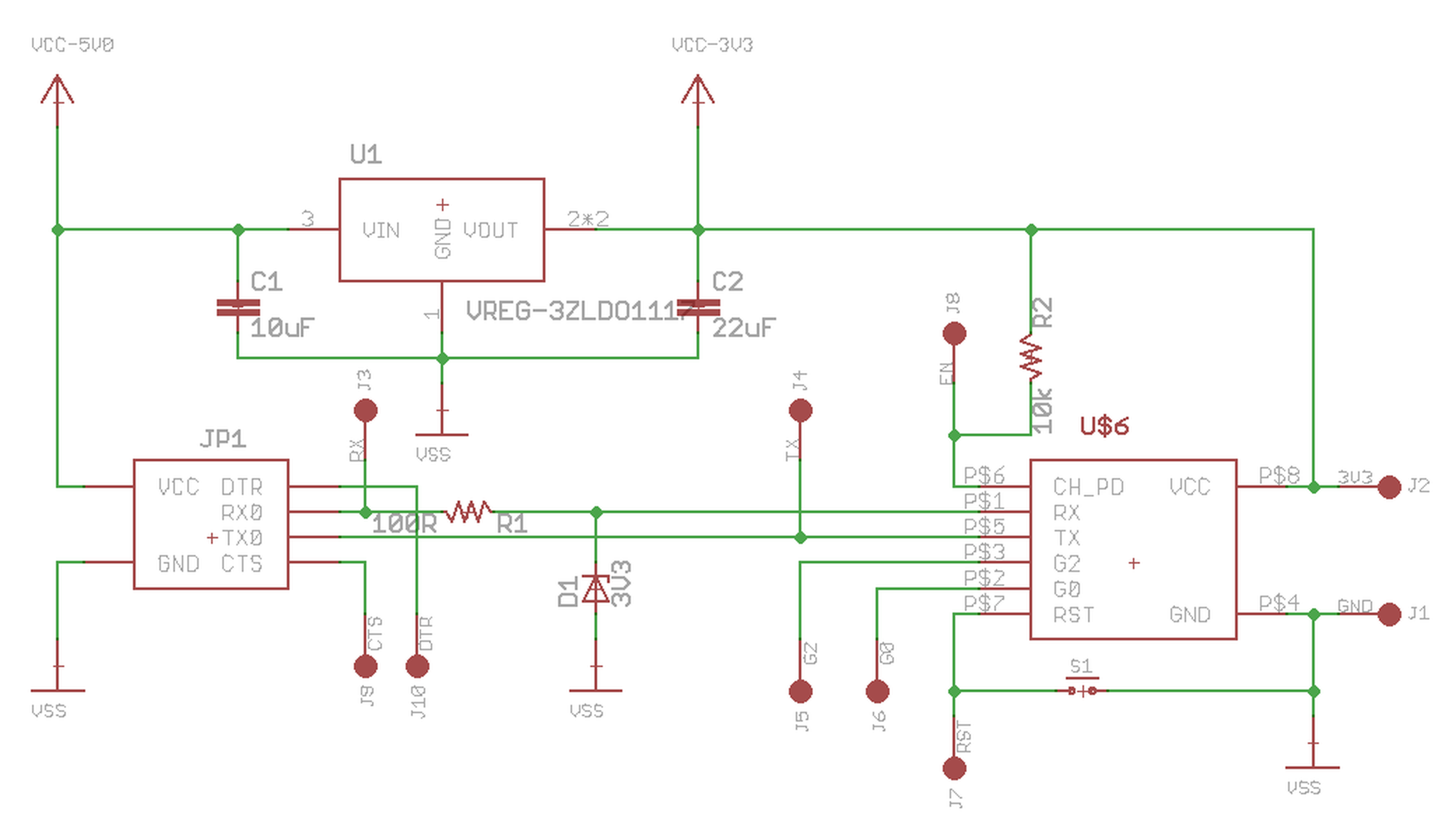 Esp8266 Ftdi And Breadboard Adapter With 33v Reg From Femtocow On Cable Schematic 4