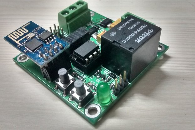 ESP8266 WIFI with Attiny85 & Relay for IOT