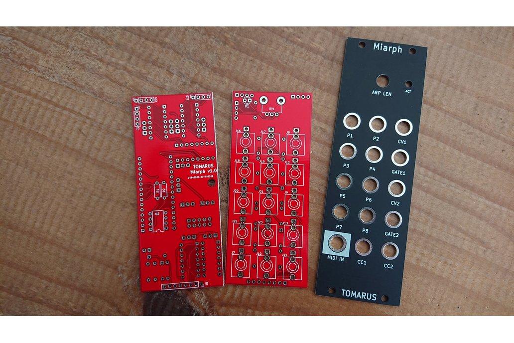 Miarph - Eurorack MIDI2CV PCB + Frontpanel set 1