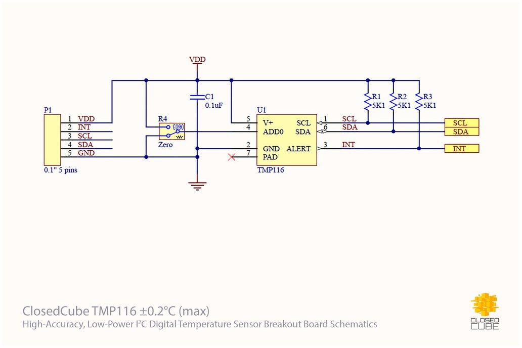 TMP116 ±0.2°C (–10°C..+85°C)  Temperature Sensor 4