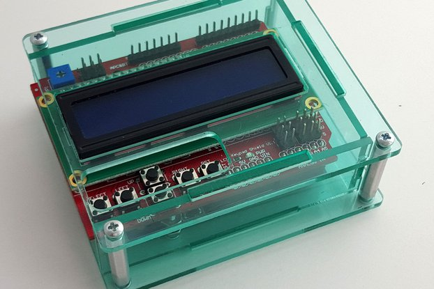 Acrylic enclosure for Arduino Uno and 16x2 LCD