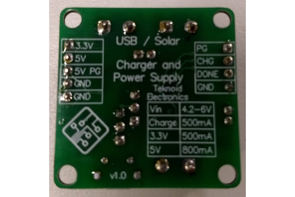Solar Li-poly Battery Charger and Power Supply 1