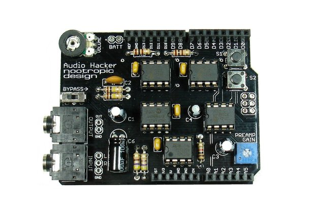 Audio Hacker Shield - Assembled