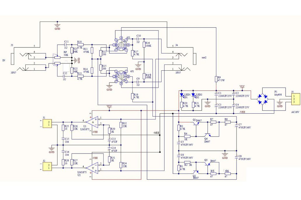 DIY Hybrid Power Amplifier Board LM1875T(12008) 5