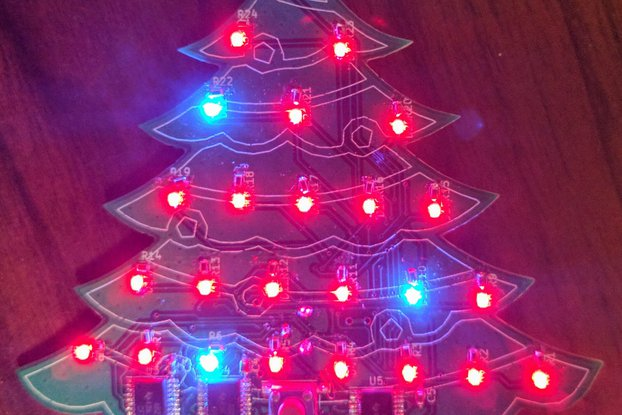 LED Christmas Tree Advent Calendar PCB