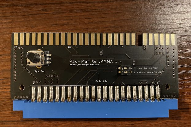 Pac-Man JAMMA Adapter Board